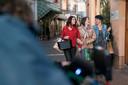 Opnames van de bioscoopfilm Zwaar Verliefd! in de Kolperstraat