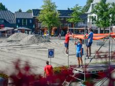 Marktplein Nunspeet wordt grote zandbak