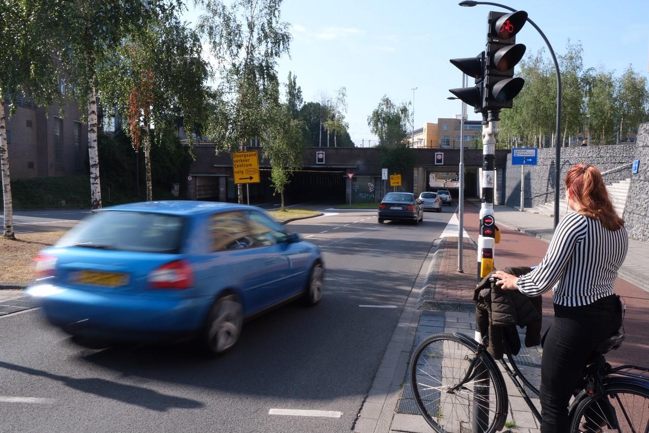 De aanloop naar de Prinsessetunnel in Enschede