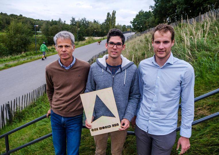 De organisatoren van de nieuwe loopwedstrijd: Chris Eysackers, Rik Eysackers en Kristof De Decker.