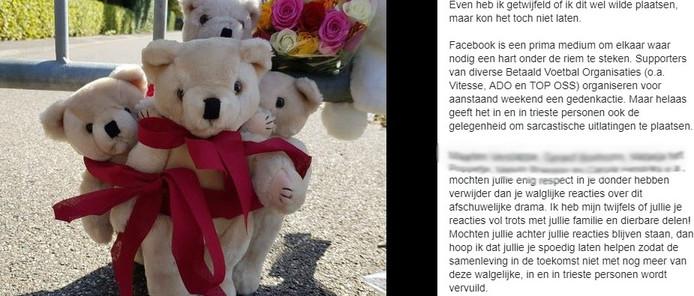 Een voorbeeld van een heksenjacht op een openbaar Facebook-profiel