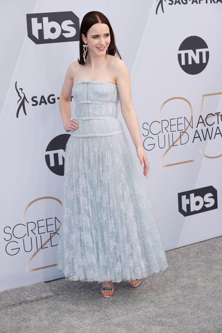 Actress Rachel Brosnahan in Dior Haute Couture