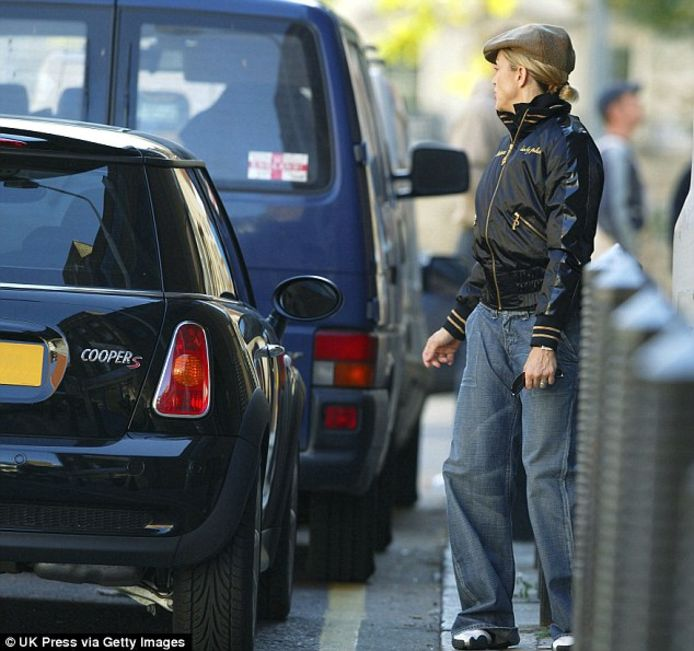Madonna en haar Mini Cooper