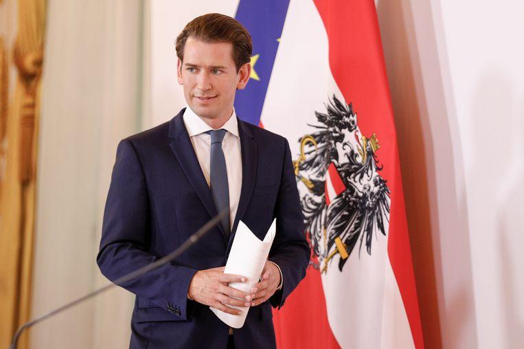 De Oostenrijkse bondskanselier Sebastian Kurz liet weten geschokt te zijn over de aanval. Beeld EPA