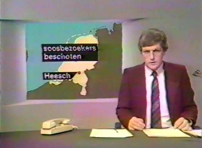 Het journaal van 1 januari 1985 gaat over het incident bij De Meule in Heesch. Presentator is Harmen Siezen.