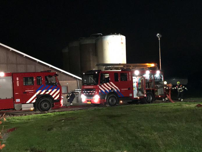 Brand bij agrarisch bedrijf in Ammerzoden.