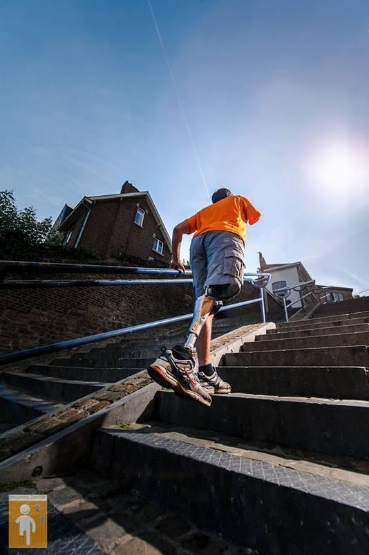 En 2014, Patrice Le Rouzic avait gravi 18 fois les 374 marches de la Montagne de Bueren à Liège en 6 heures