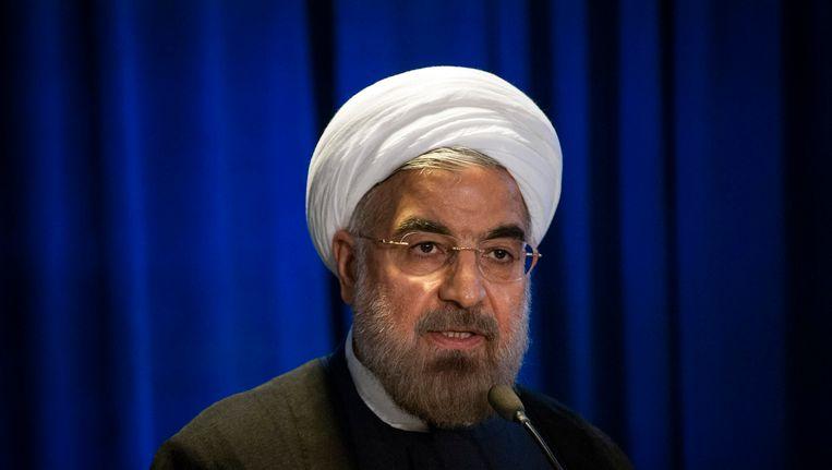 De Iraanse president Hassan Rohani. Beeld REUTERS