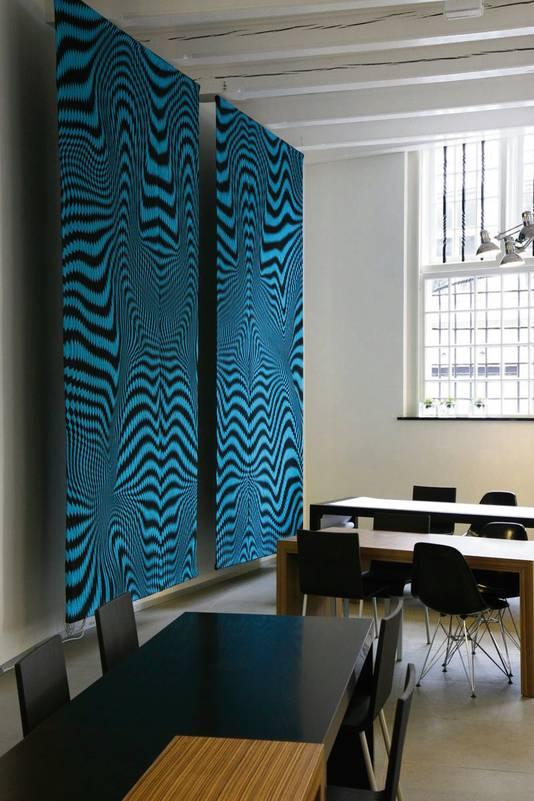 De delen van het wandkleed die in het museum in Tilburg hangen. Het deel dat Merei zoekt is ongeveer een meter breed.