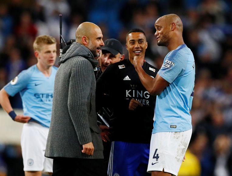 Guardiola, Tielemans en Kompany.