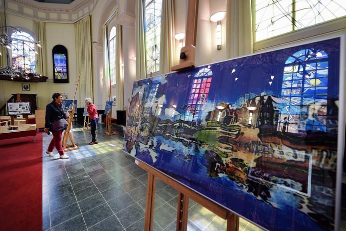 Een eerdere expositie in het kader van Van Gogh Leeft in de Van Goghkerk in Etten-Leur. De organisatie laat dit jaar verstek gaan.
