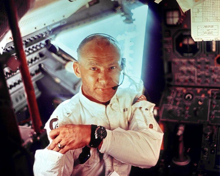 Buzz Aldrin in de Apollo 1969. Beeld reuters