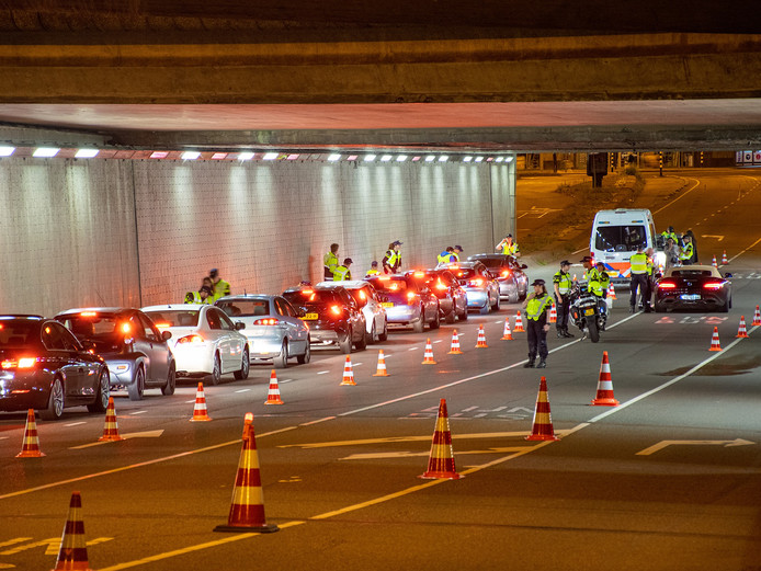 Controle in Daalsetunnel