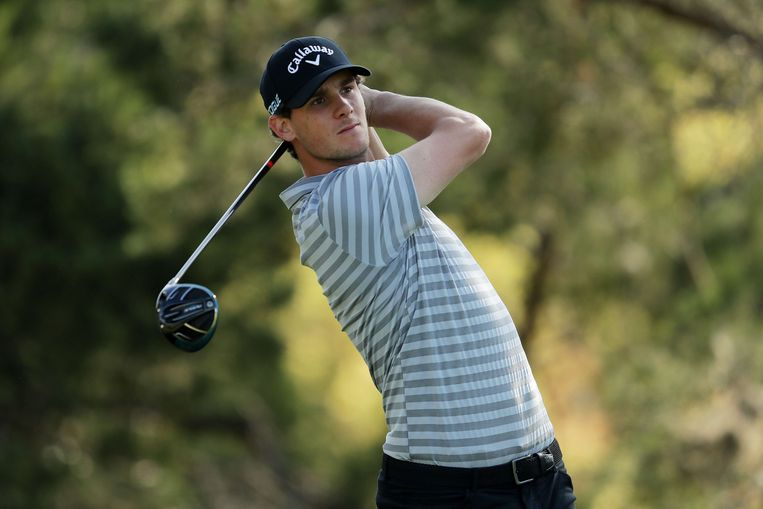 AUSTIN, TX - MARCH 22: Thomas Pieters of Belgium plays his shot from the second tee during the second round of the World Golf Championships-Dell Match Play at Austin Country Club on March 22, 2018 in Austin, Texas.   Richard Heathcote/Getty Images/AFP == FOR NEWSPAPERS, INTERNET, TELCOS & TELEVISION USE ONLY ==