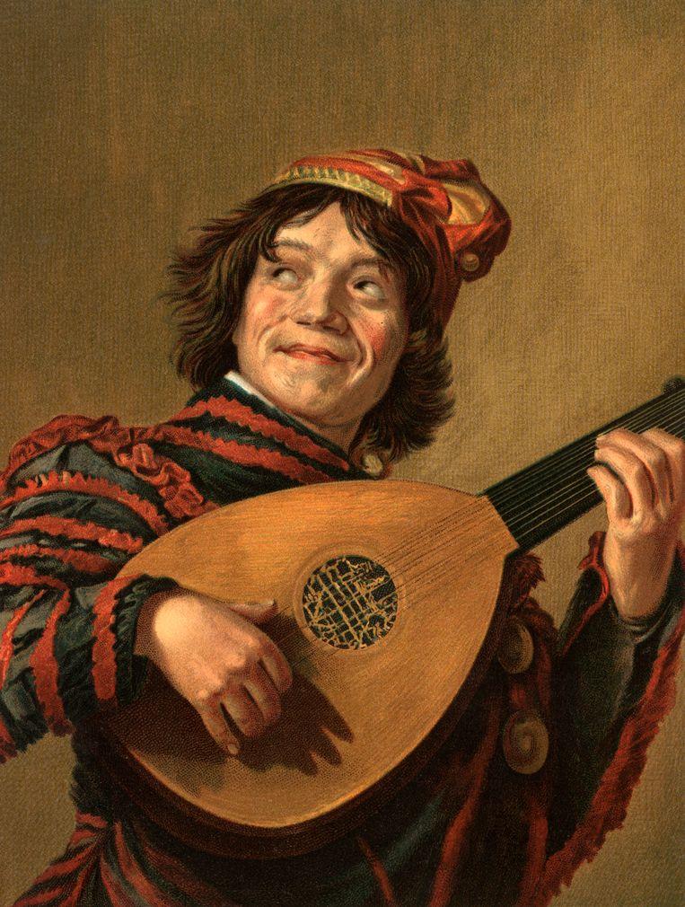 Nar met een luit c. 1623. Beeld Alamy Stock Photo