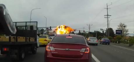 Enorme vuurbal bij vliegtuigcrash in Washington