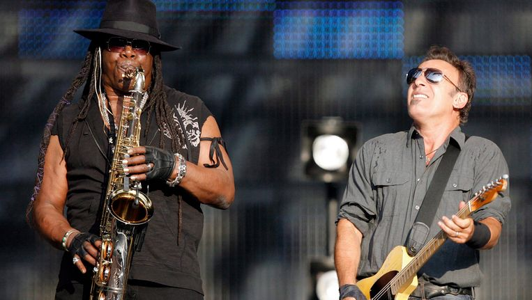 Clemons en Springsteen Beeld EPA