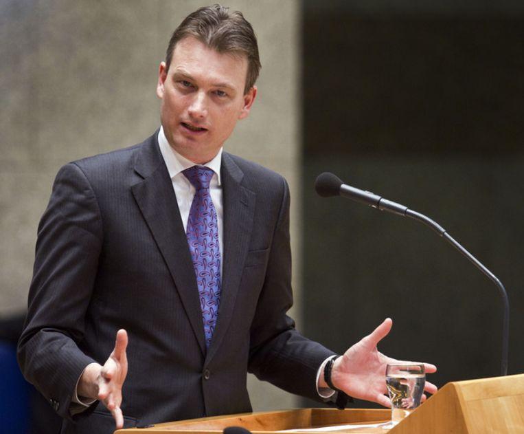 Staatssecretaris Halbe Zijlstra, die verantwoordelijk is voor de rijksarchieven. Beeld ANP
