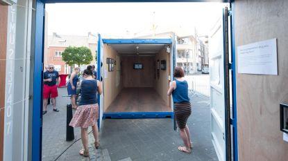 Expo over vluchtelingen... in containers