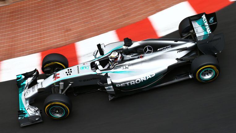 Lewis Hamilton in zijn Mercedes-bolide
