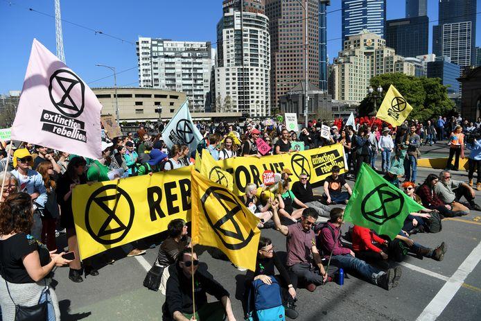 Een klimaatdemonstratie in Melbourne