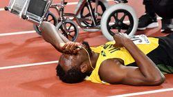 """Drama op WK atletiek: Usain Bolt krijgt kramp bij afscheid, want """"zijn spieren waren niet goed opgewarmd"""""""