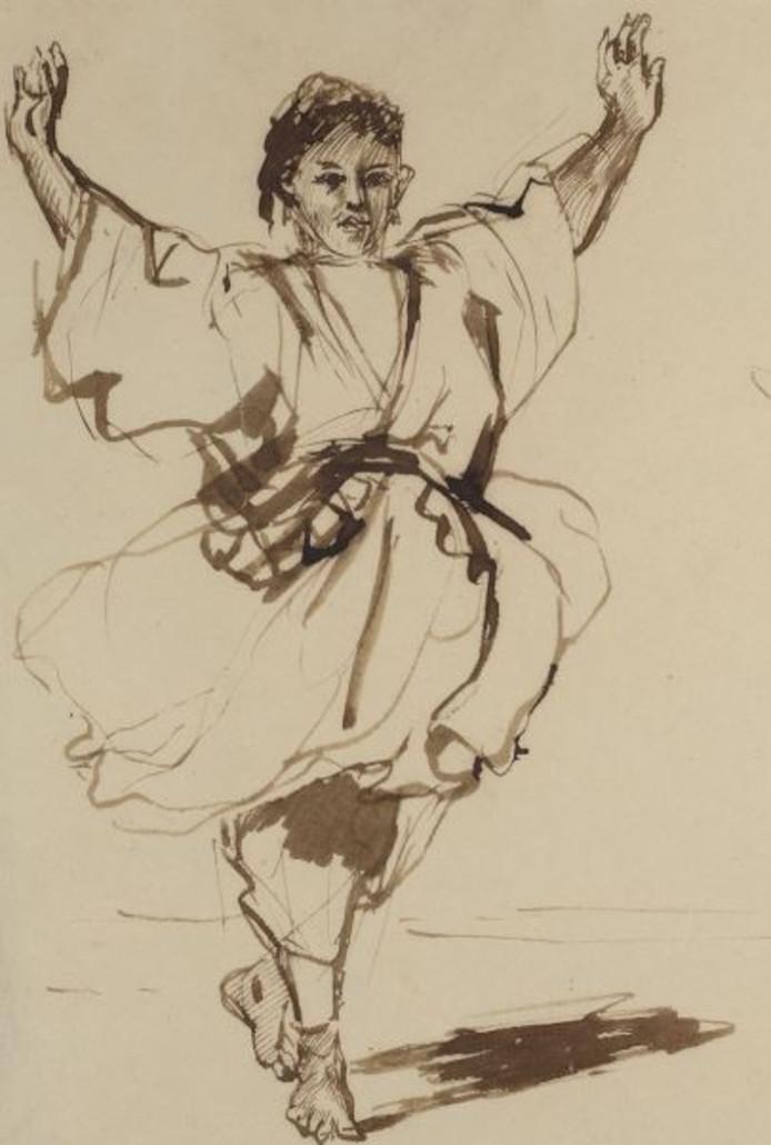 Eugène Delacroix, Dansende Marokkaan (1832).