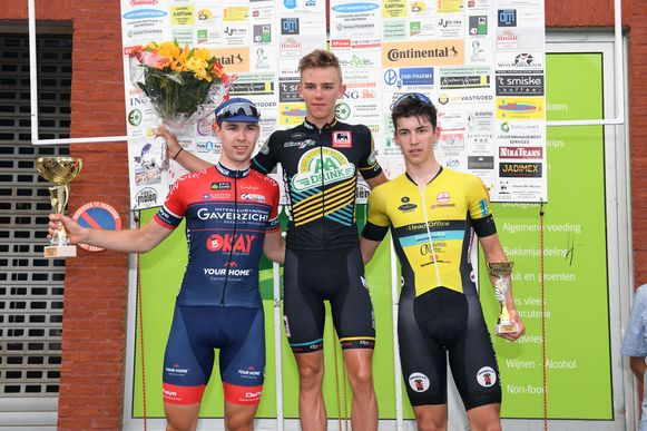 Thibau Nys won bij de juniores in Bierbeek.