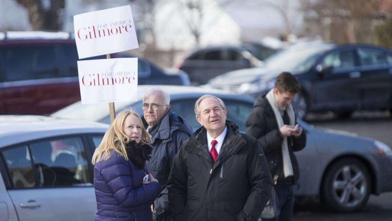 Een campagnebijeenkomst van Gilmore Beeld null