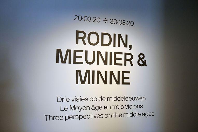 De aankondiging van de tentoonstelling.