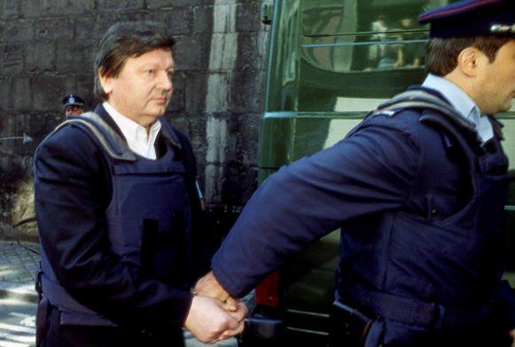 Michel Nihoul tijdens zijn arrestatie.