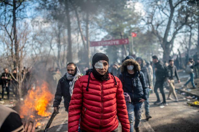 Turkije vangt ruim 3,6 miljoen vluchtelingen op. Vanwege de strijd in Idlib zijn nog eens 1 miljoen mensen op de vlucht geslagen.  Beeld AFP
