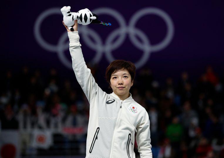 De Japanse Nao Koidara Japan zondag olympisch goud op de 500 meter bij de vrouwen.  Beeld AP