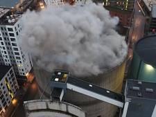 Drone filmt grote explosie bij sloop silo
