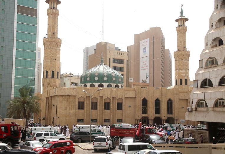 De sjiitische Al-Imam al-Sadeqmoskee in Koeweit-Stad, waar de aanslag plaatsvond.
