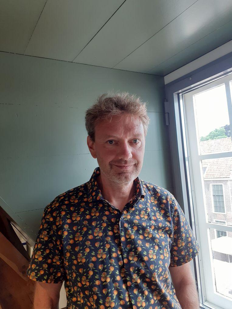 Ad Maas, conservator bij het Rijksmuseum Boerhaave in Leiden en hoofdredacteur van een nieuw tijdschrift.  Beeld