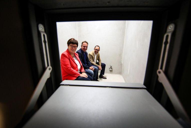 Burgemeesters Carine Dewaele (Lendelede), Francis Benoit (Kuurne) en Vincent Van Quickenborne (Kortrijk).
