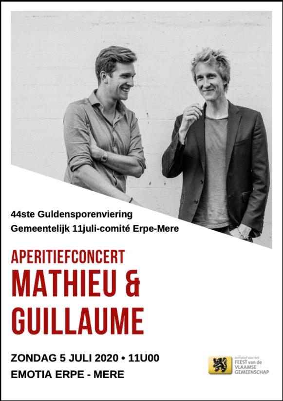 Aperitiefconcert Mathieu & Guillaume op zondag 5 juli om 11 uur in EMotia Erpe-Mere.