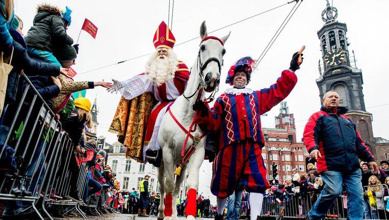 Amerigo brengt Sinterklaas zondag naar de Dam. Beeld ANP