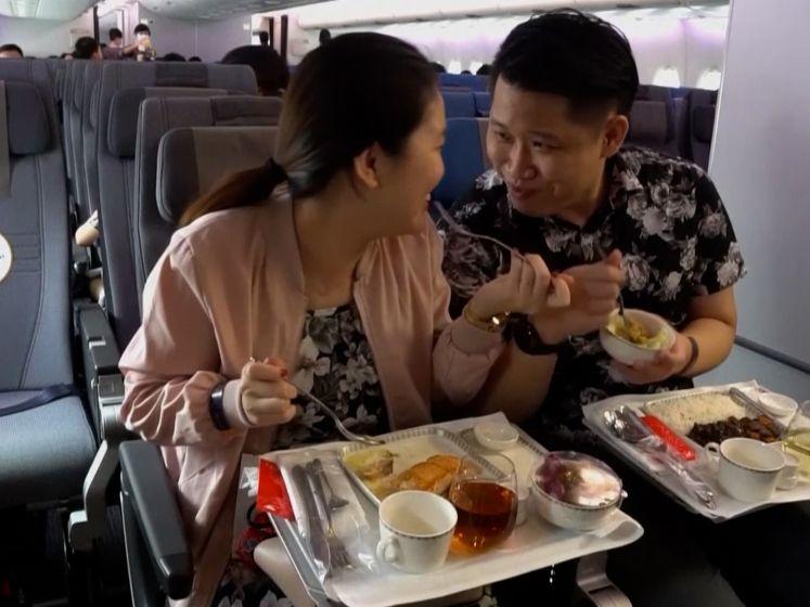 Eten in 's werelds grootste passagiersvliegtuig