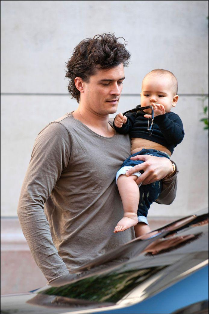 Haar man Orlande Bloom en zoontje Flynn (18 maanden).
