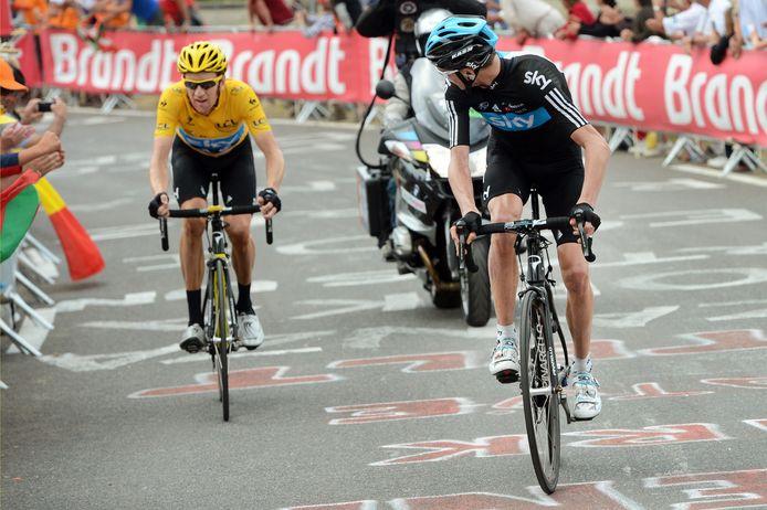 In de 17de rit in de Tour de Francekwamen de waardeverhoudingen binnen Teams Sky op de helling te staan. In Peyragude wachtte een nochtans sterkere Froome op zijn kopman Wiggins.