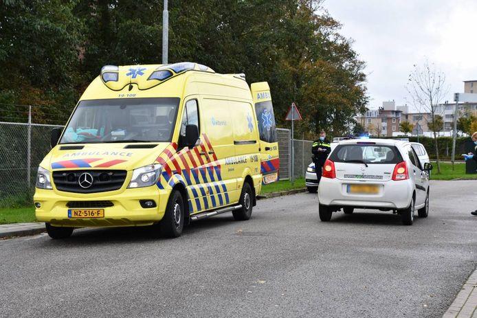 De ambulance na het ongeluk.