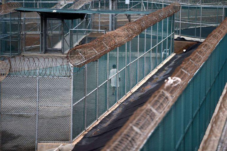 Archieffoto: Een gevangene in de gevangenis van Guantánamo Bay
