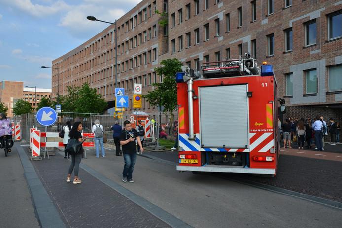 Ook de brandweer kwam af op de melding.