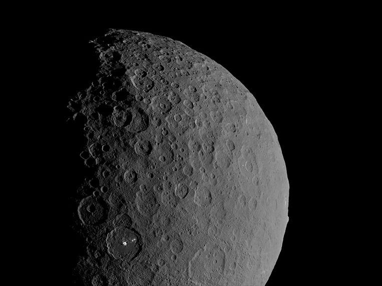 De dwergplaneet Ceres.