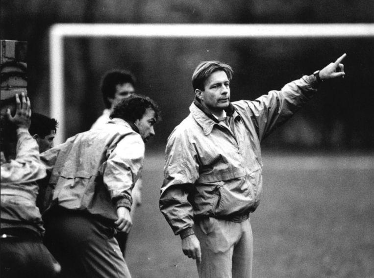Als coach bij FC Den haag in 1990. Beeld anp