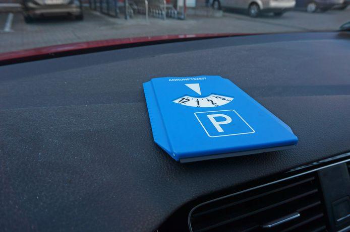 Een parkeerschijf, foto ter illustratie.