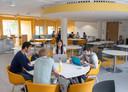 Het restaurant is tevens overleg- en studieruimte.