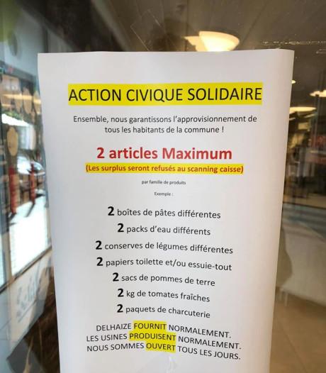 """L'AD Delhaize de Gosselies restreint la vente de certains produits: """"L'afflux était trop important"""""""